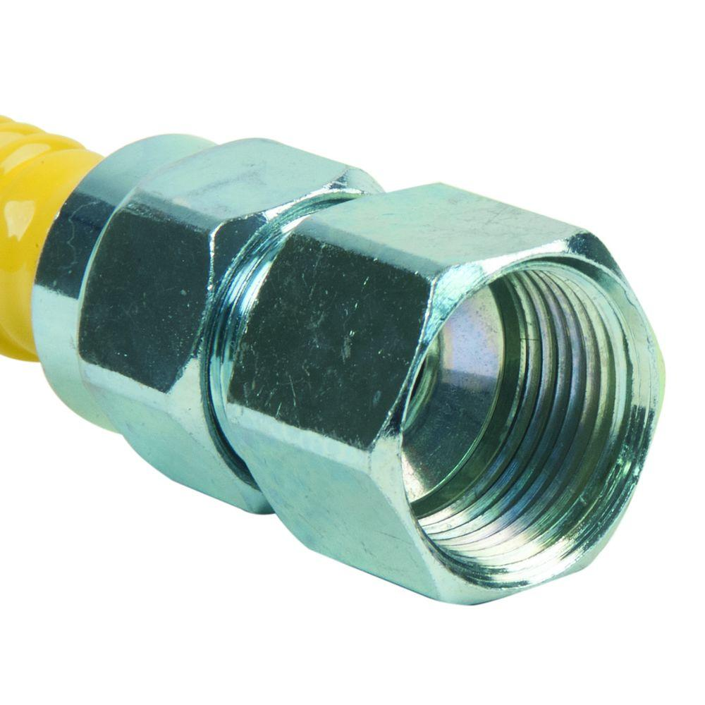 ProCoat 3/4 in. FIP x 1/2 in. FIP x 24 in. Stainless Steel Gas Connector 5/8 in. O.D. (150,000 BTU)