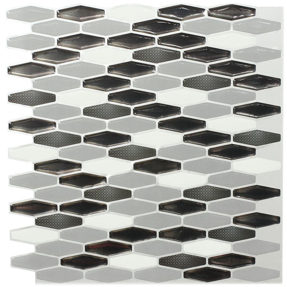 instant mosaic 3 in. x 6 in. peel and stick mosaic decorative wall