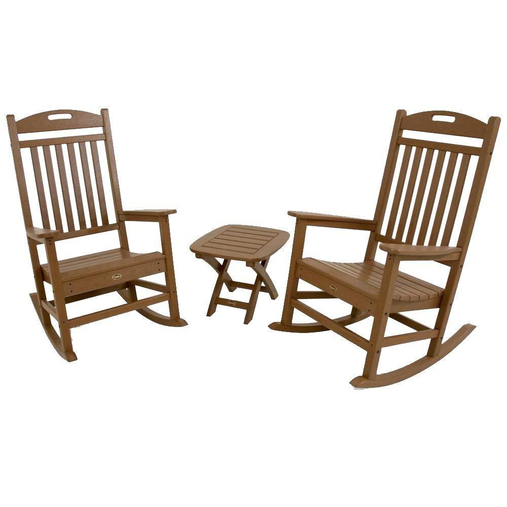 Trex Outdoor Furniture Yacht Club Tree House 3-Piece Patio Rocker