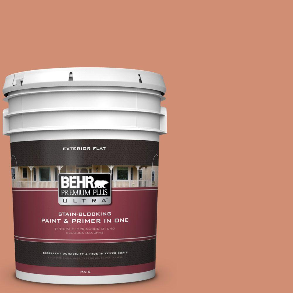 5-gal. #M200-5 Terra Cotta Clay Flat Exterior Paint