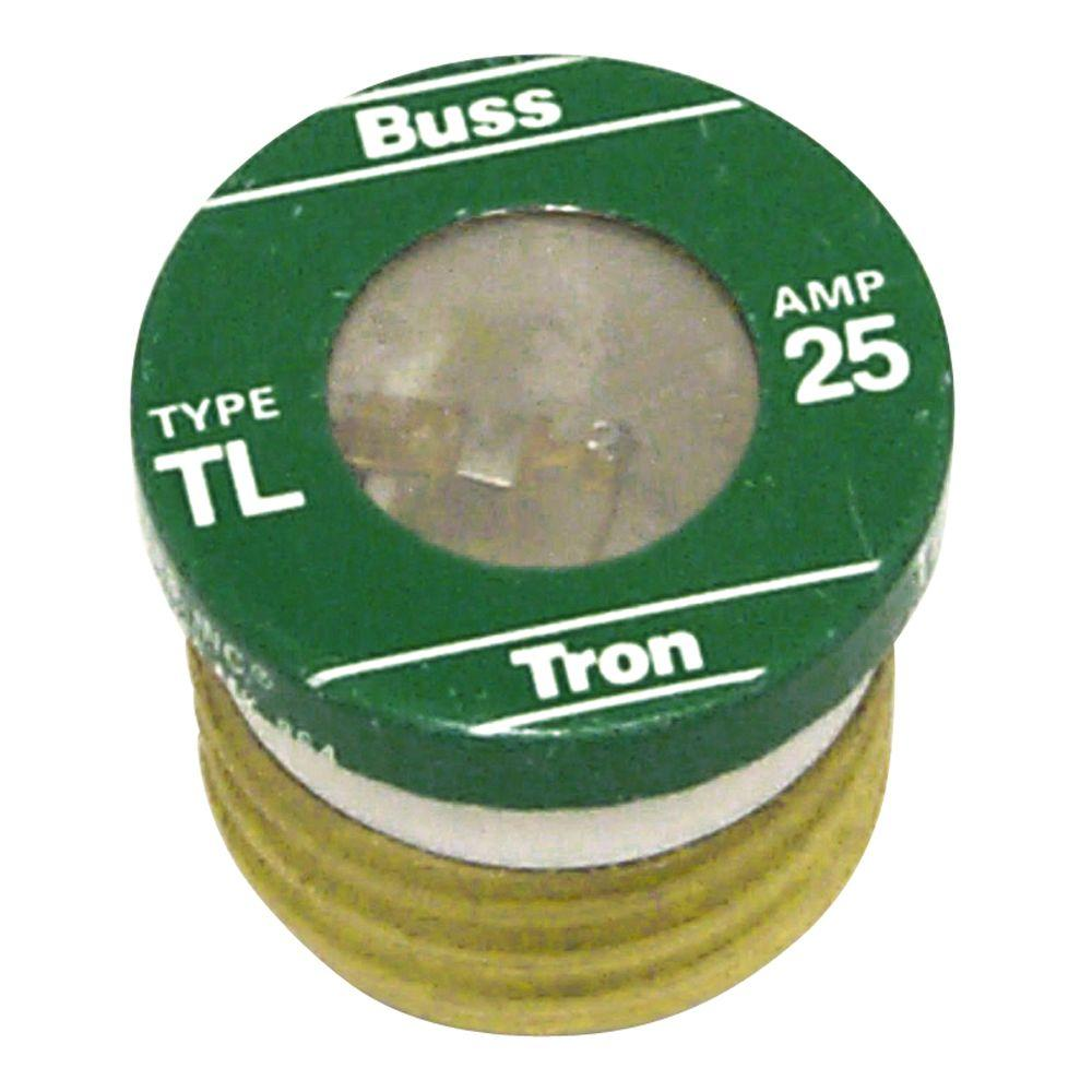 Cooper Bussmann 25 Amp TL Style Plug Fuse (4-Pack)-TL-25PK4 - The