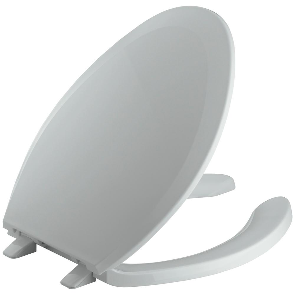 KOHLER Lustra Elongated Open-Front Toilet Seat in Ice Grey-K-4650-95 - The