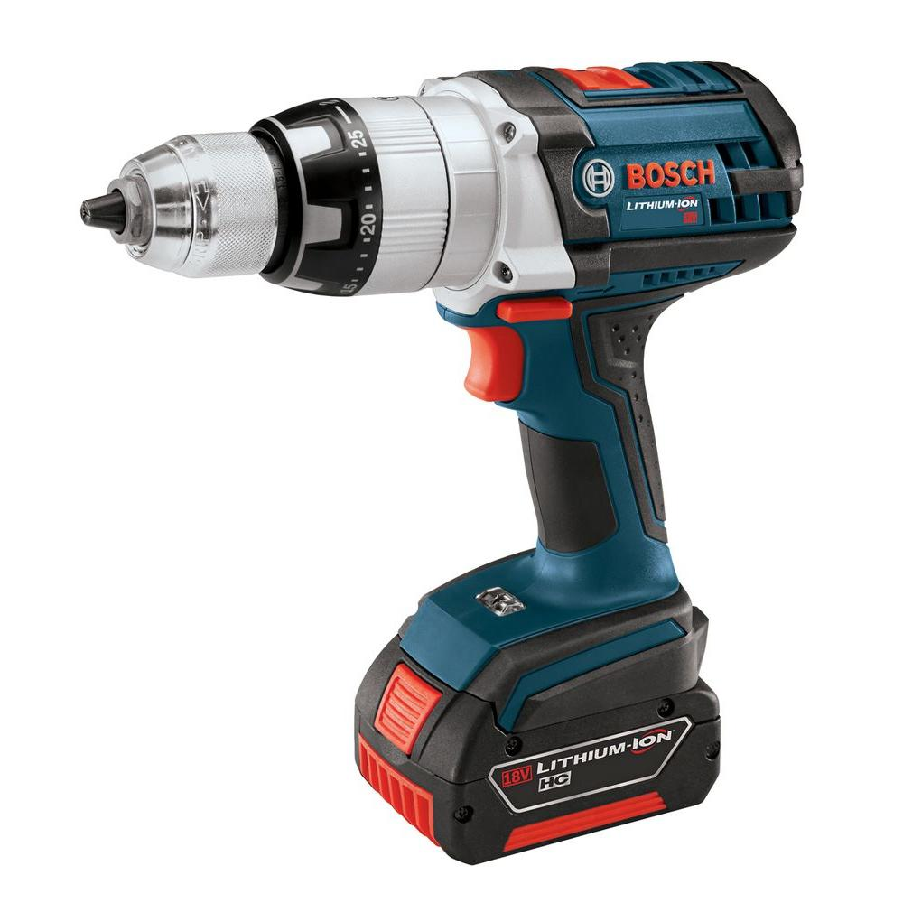 Bosch 18-Volt Brute Tough Hammer Drill Driver with 2 HC 3.0Ah Batteries and Charger