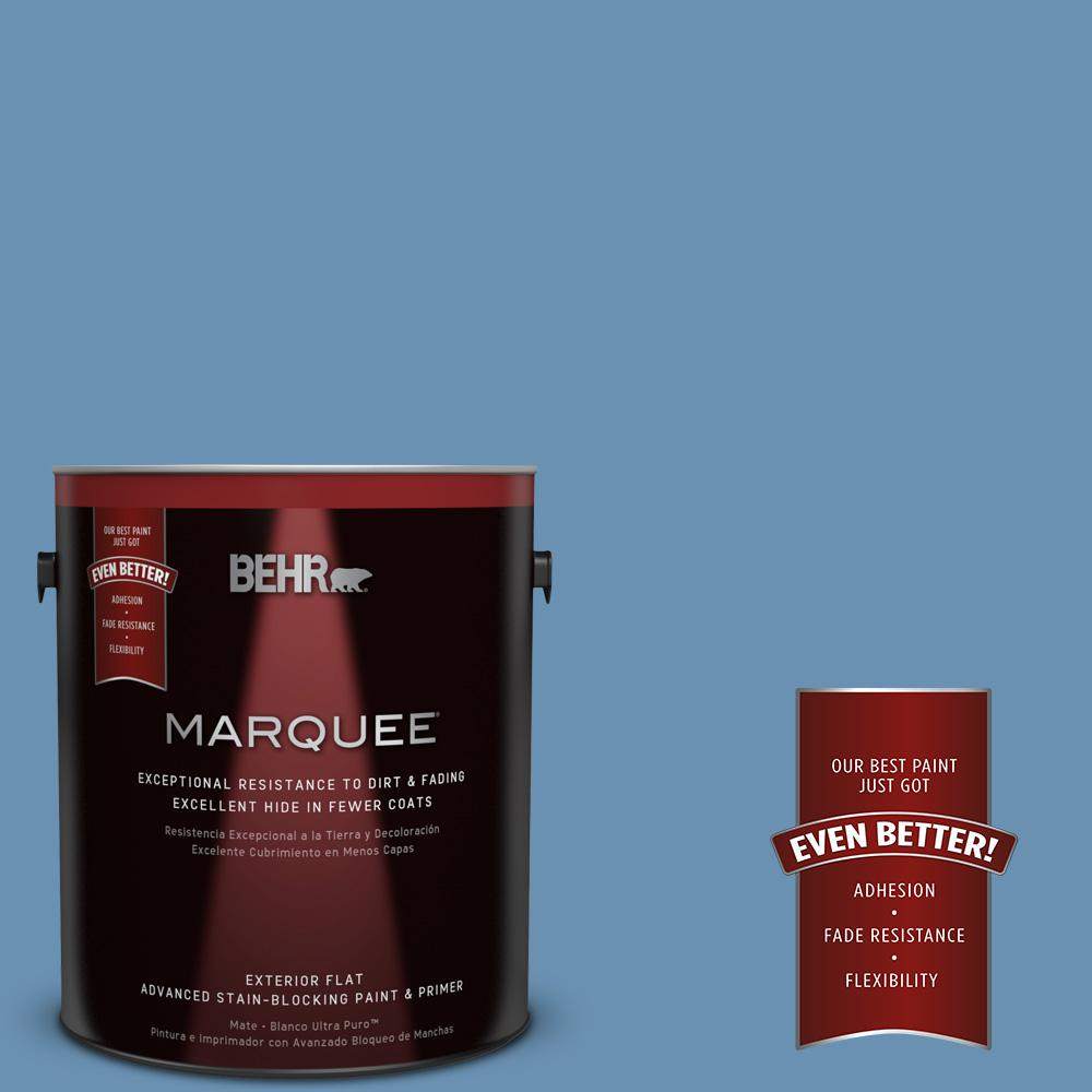 BEHR MARQUEE 1-gal. #M510-4 Brittany Blue Flat Exterior Paint