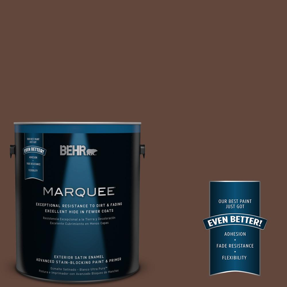 1-gal. #S-G-760 Chocolate Coco Satin Enamel Exterior Paint
