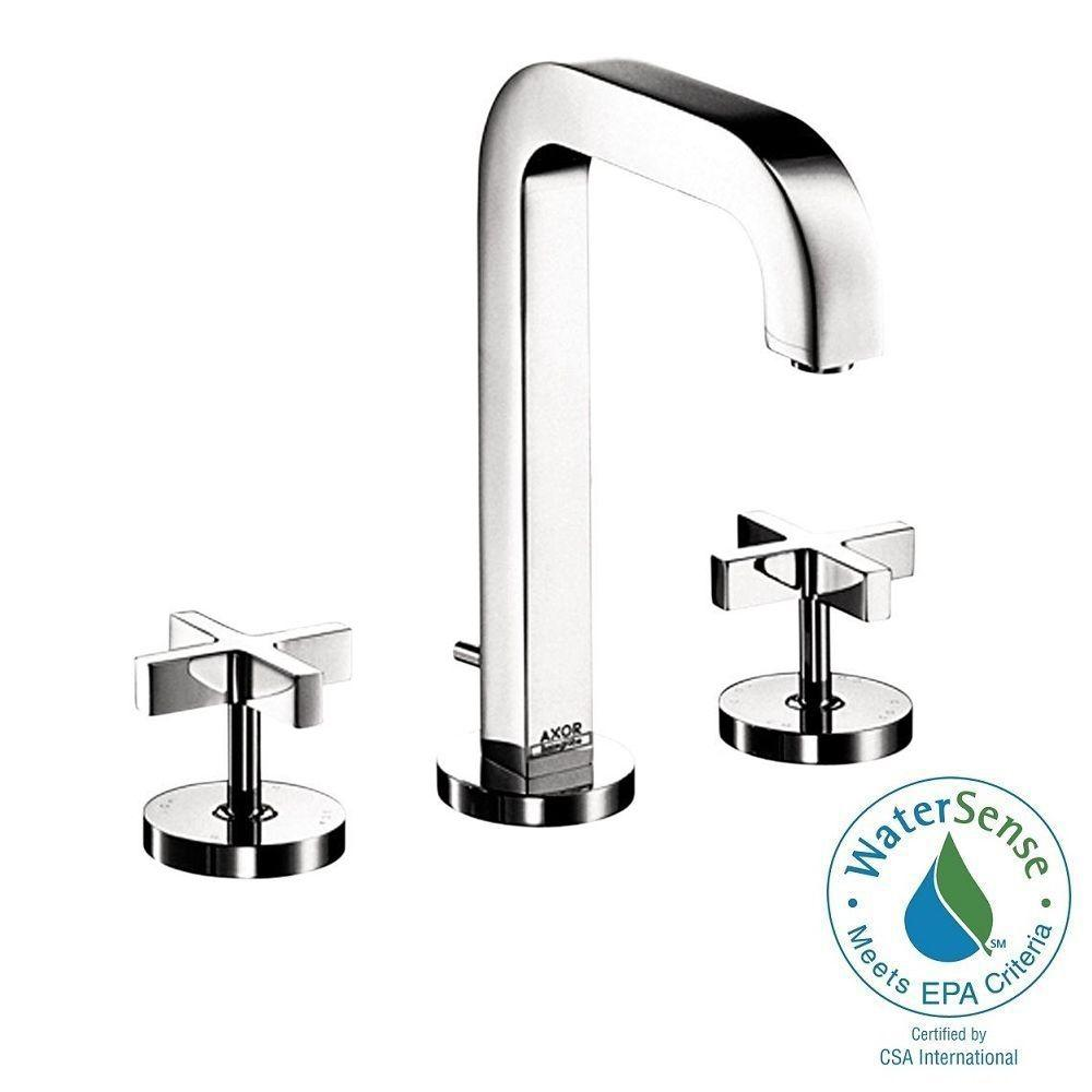 Hansgrohe Citterio 8 in. Widespread 2-Handle Mid-Arc Bathroom Faucet in Chrome