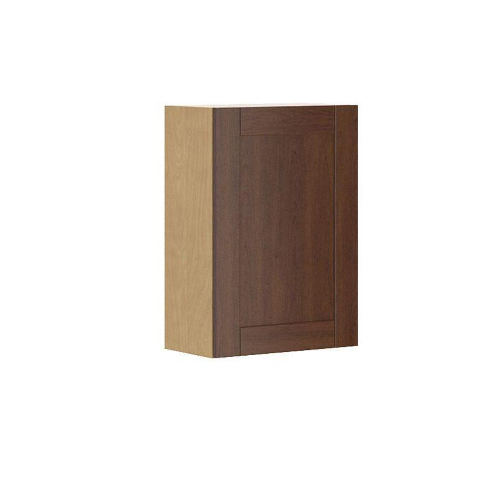 Ready to Assemble 21x30x12.5 in. Lyon Wall Cabinet in Maple Melamine