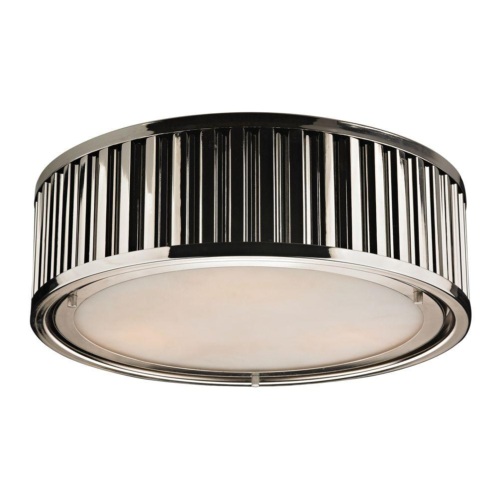 Titan Lighting Munsey Park Collection 3-Light Polished Nickel