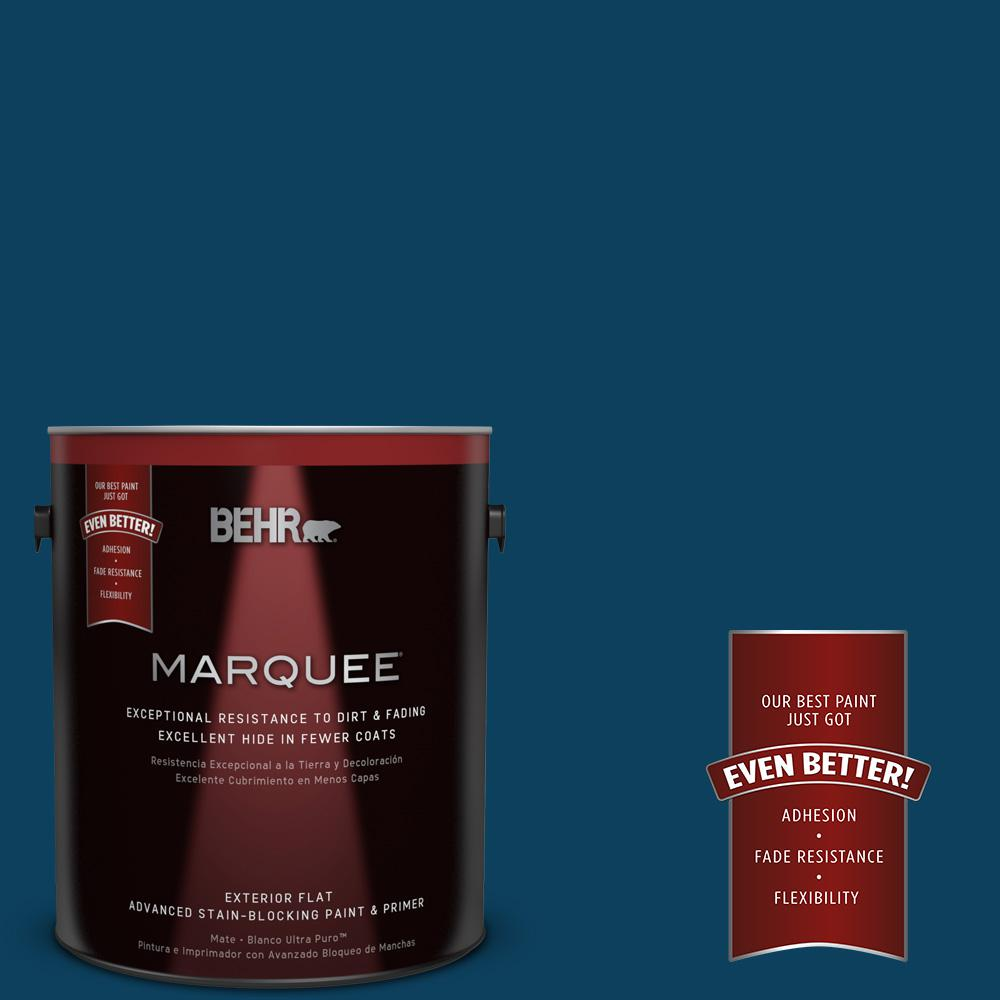 BEHR MARQUEE 1-gal. #ECC-53-3 Outer Space Flat Exterior Paint