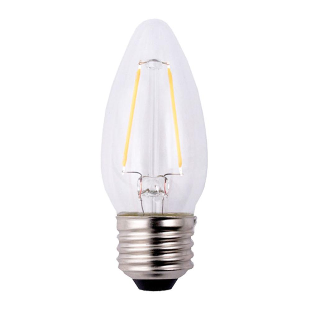 40W Equivalent Soft White B11 Dimmable Filament LED Light Bulb (3-Pack)