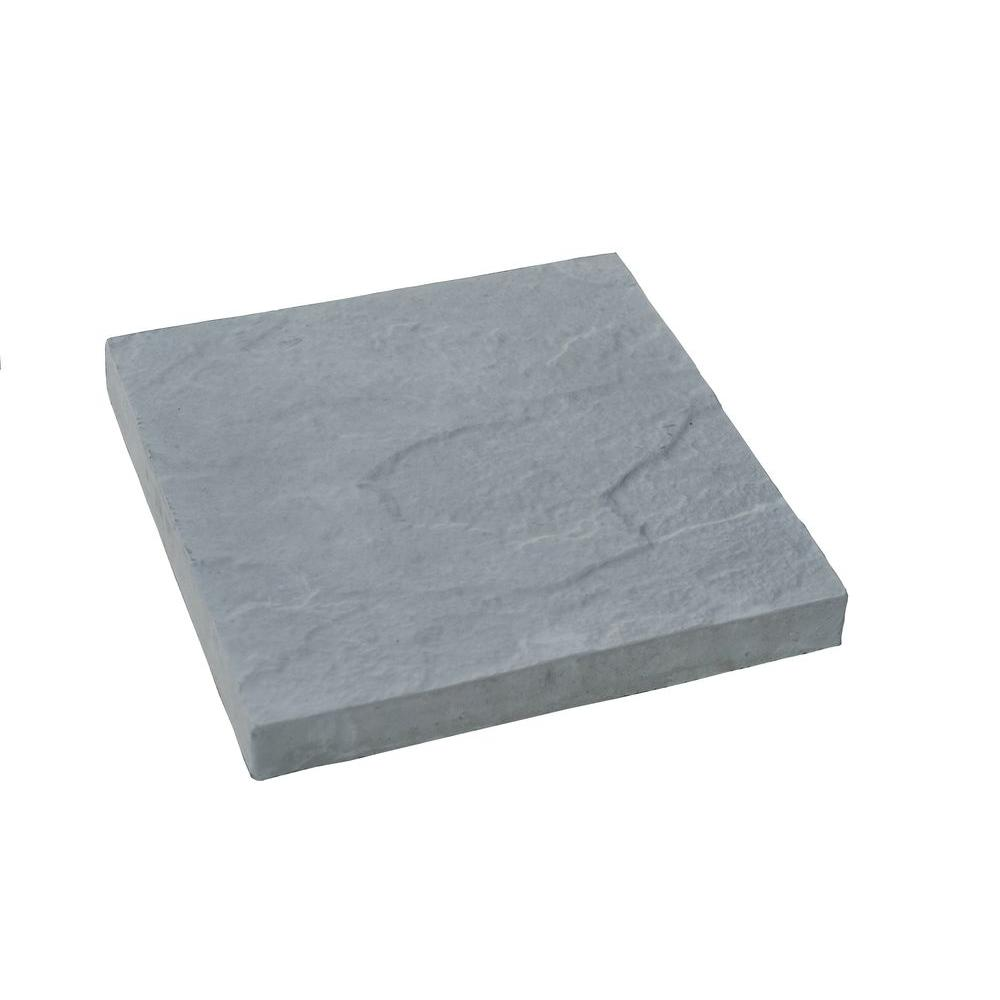 Nantucket Pavers 12 ft. x 12 ft. Concrete Gray Traditional Yorkstone Paver