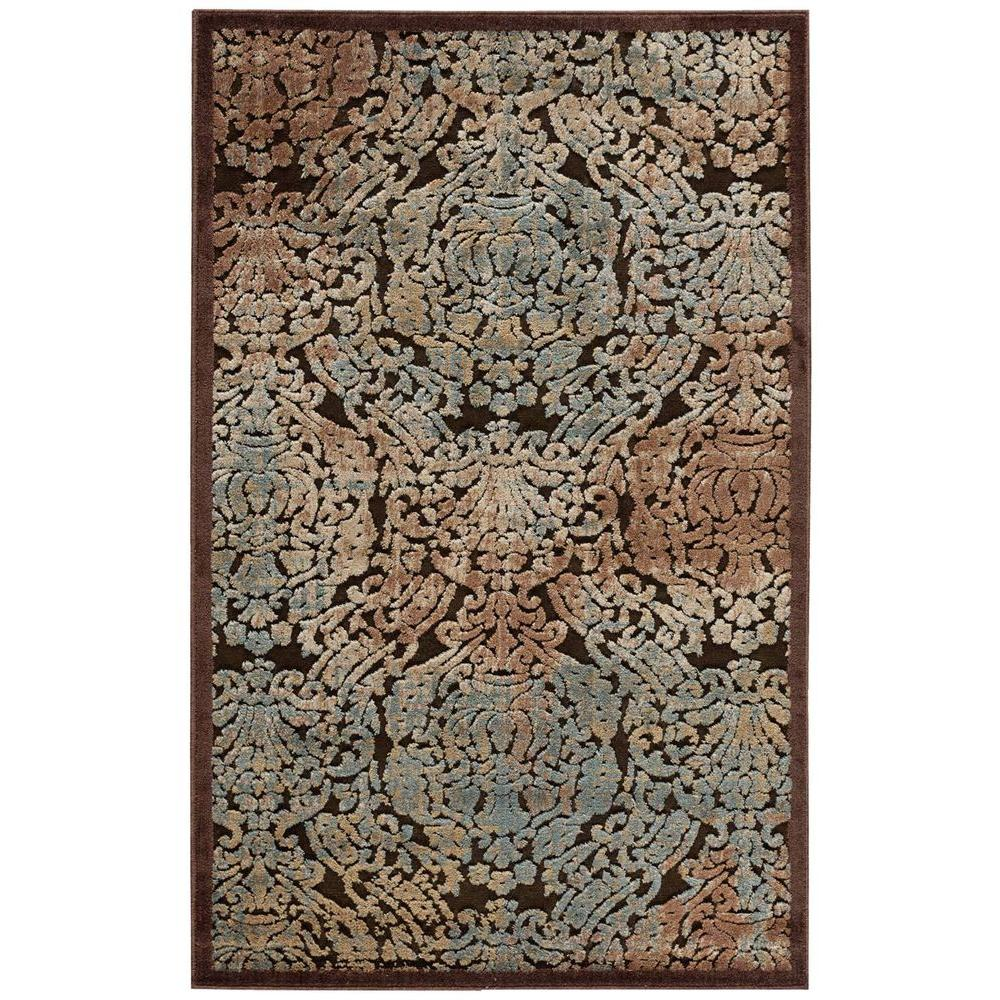 Nourison Graphic Illusions Chocolate 2 ft. 3 in. x 3 ft. 9 in. Accent Rug
