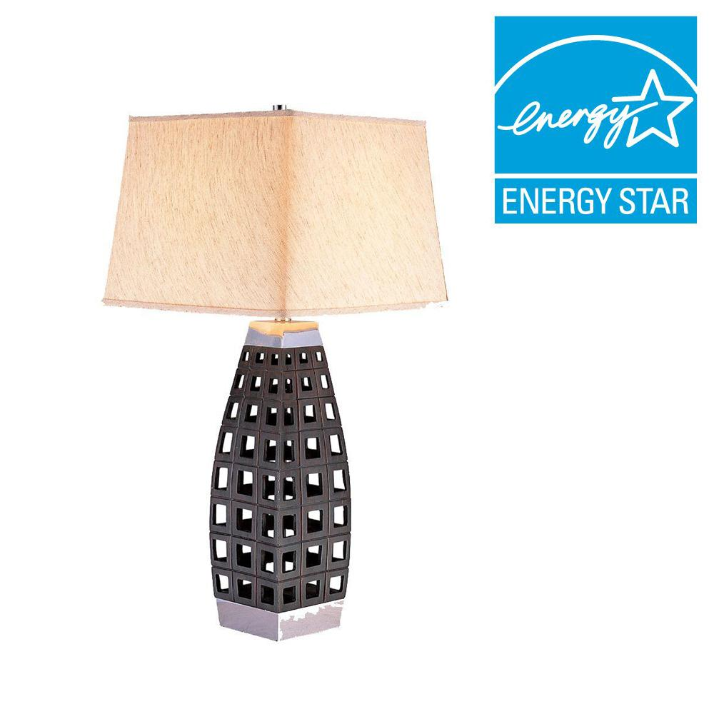 ORE International 29 in. Dark Brown Table Lamp-K-4178T - The Home