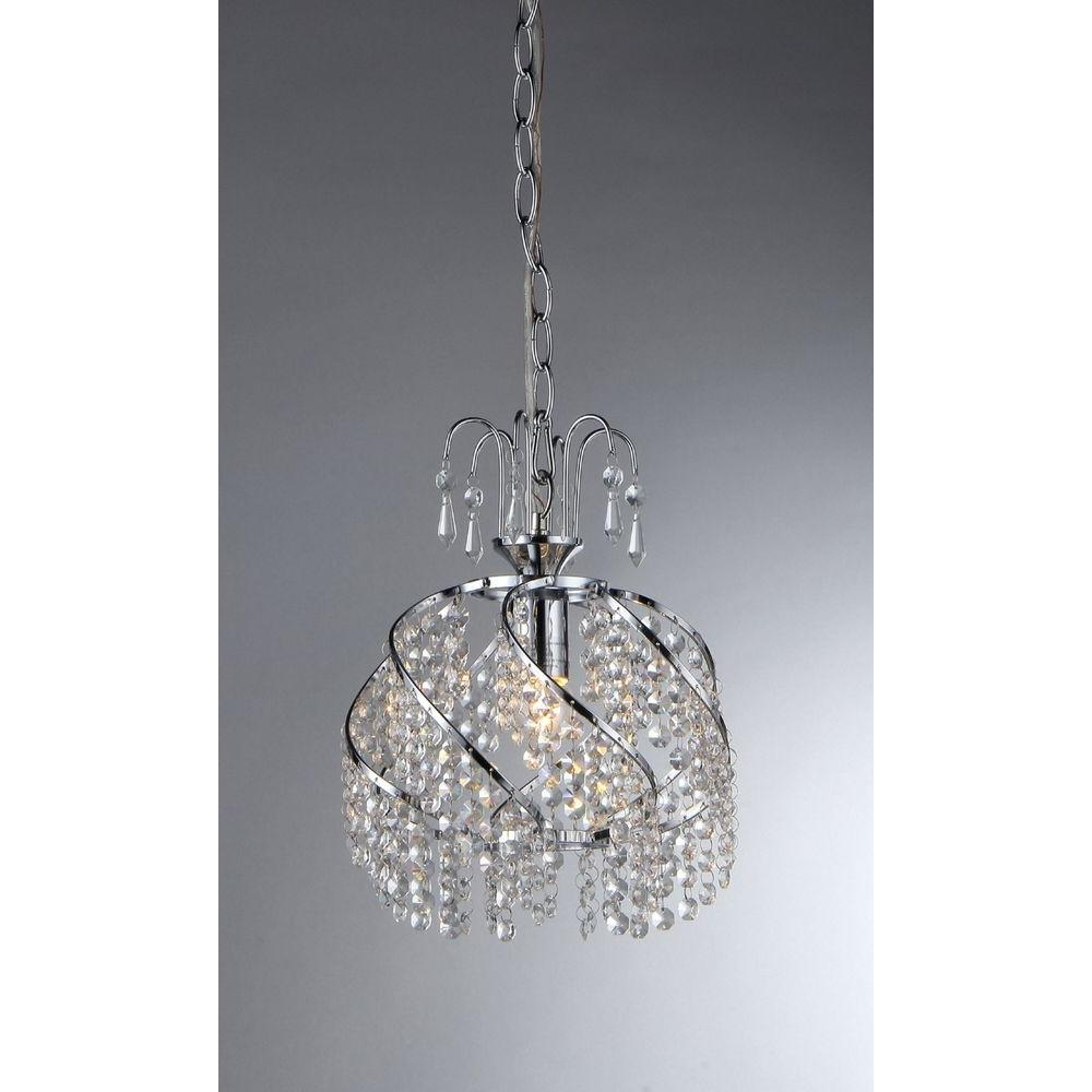 Warehouse of Tiffany Catherine 1-Light Chrome Crystal Chandelier-RL1007 - The