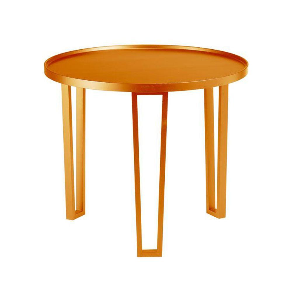 Home Decorators Collection 27.5 in. W Loft Orange Table-DISCONTINUED