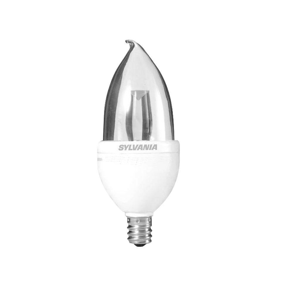 Sylvania 25W Equivalent Soft White  B10 Bent Tip Candelabra Base LED Light Bulb