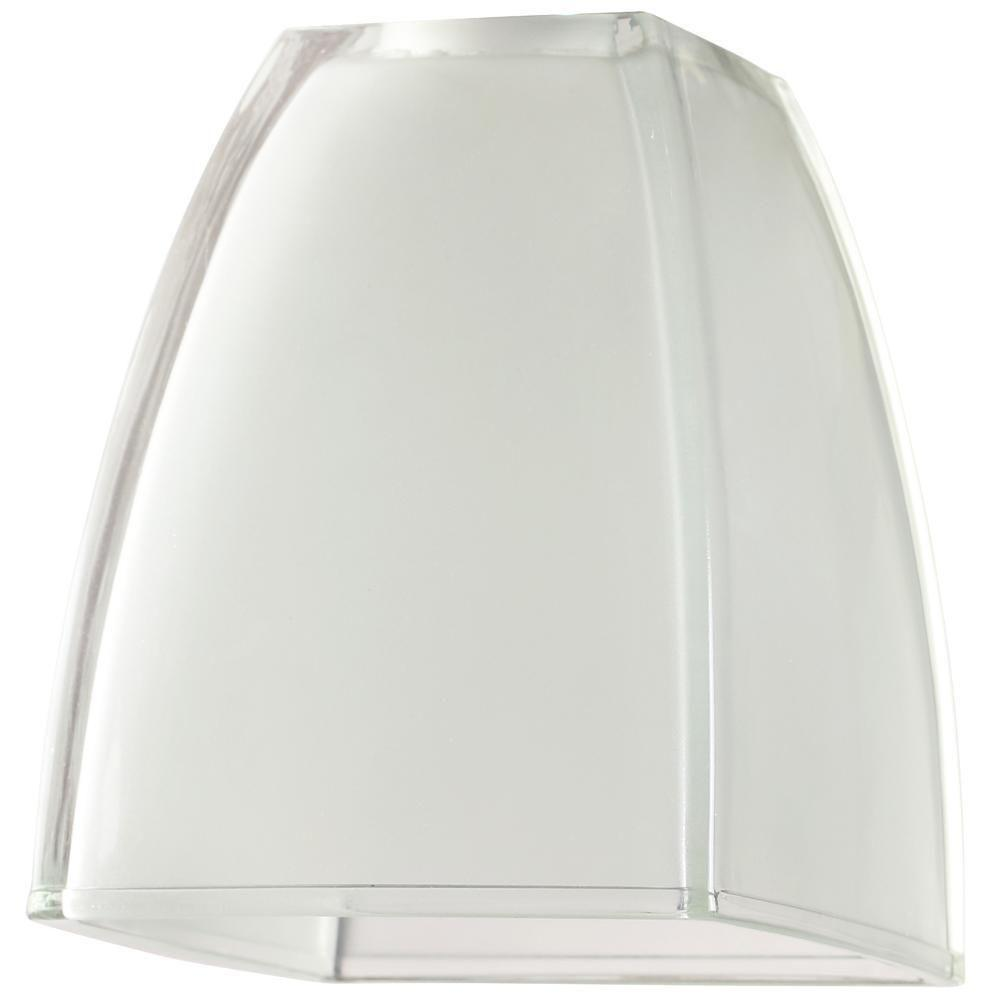 Westinghouse 6 in. Glazed Ice Cubic Dome Shade with 2-1/4 in.