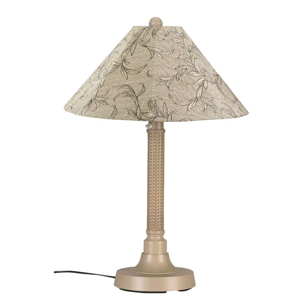 Bahama Weave 34 in. Mojavi Outdoor Table Lamp with Bessemer Shade