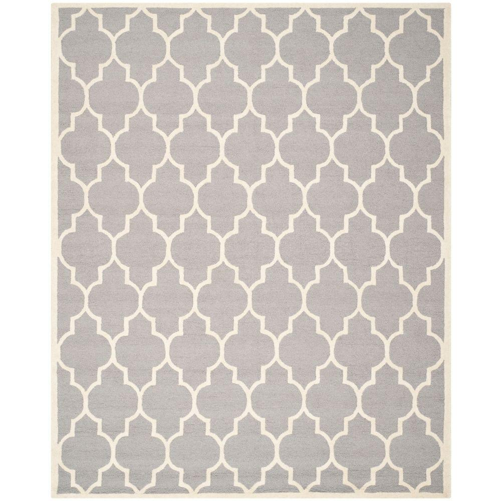 Safavieh Cambridge Silver/Ivory 7 ft. 6 in. x 9 ft. 6 in. Area Rug
