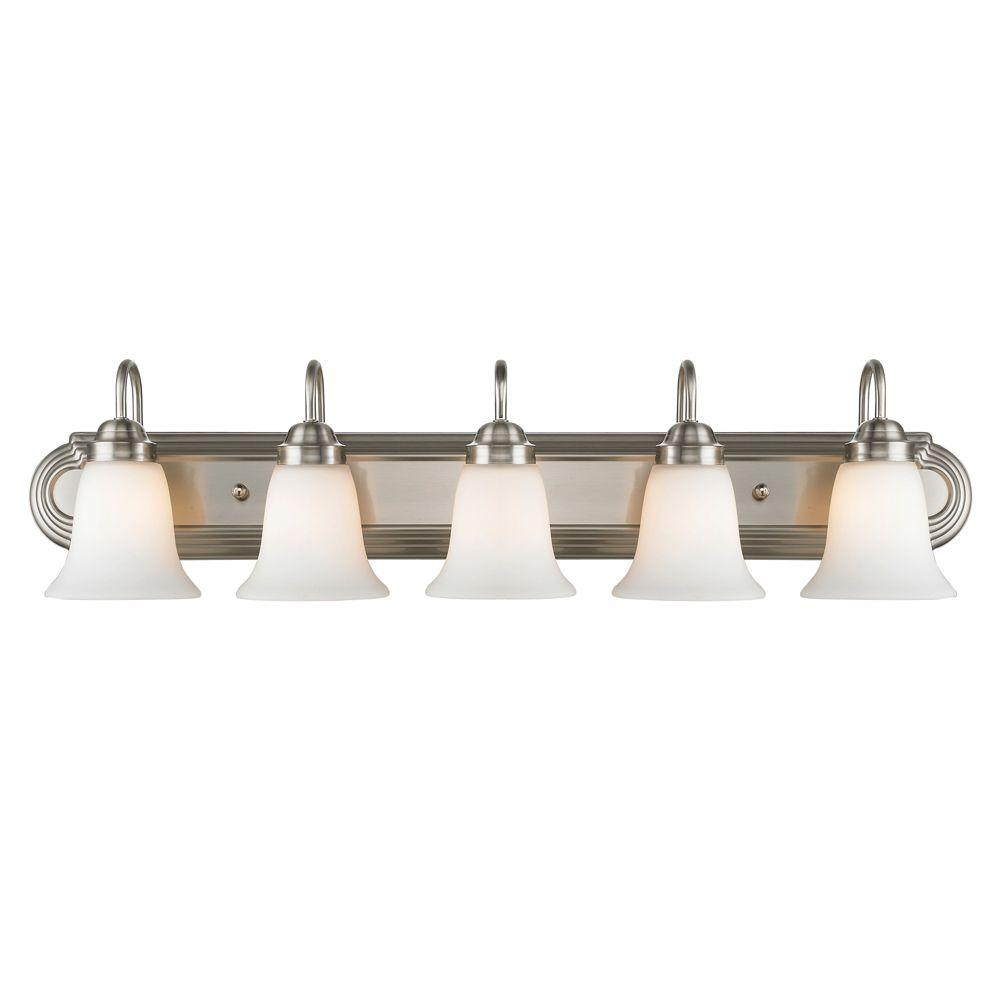 null Yvonne Collection 5-Light Pewter Bath Vanity Light