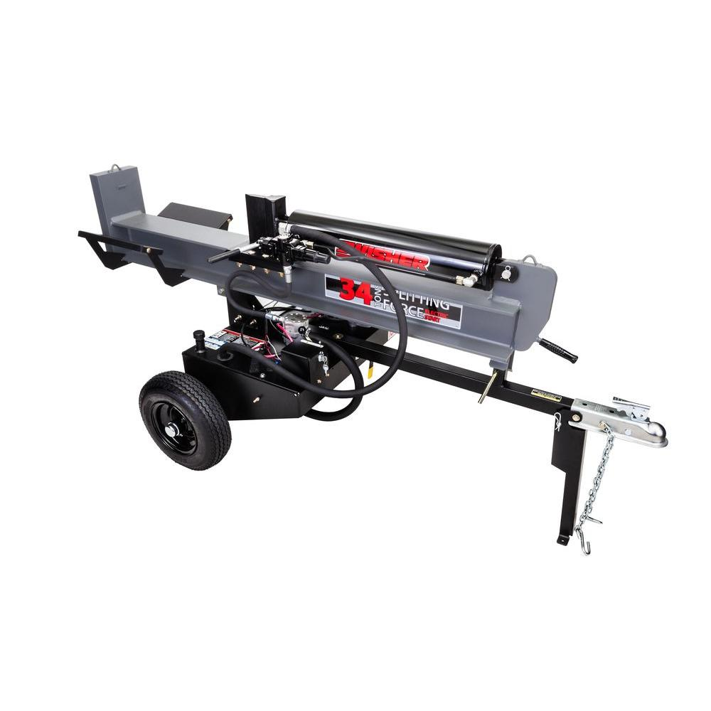 34-Ton 344cc 11.5 HP Electric and Recoil Start Log Splitter