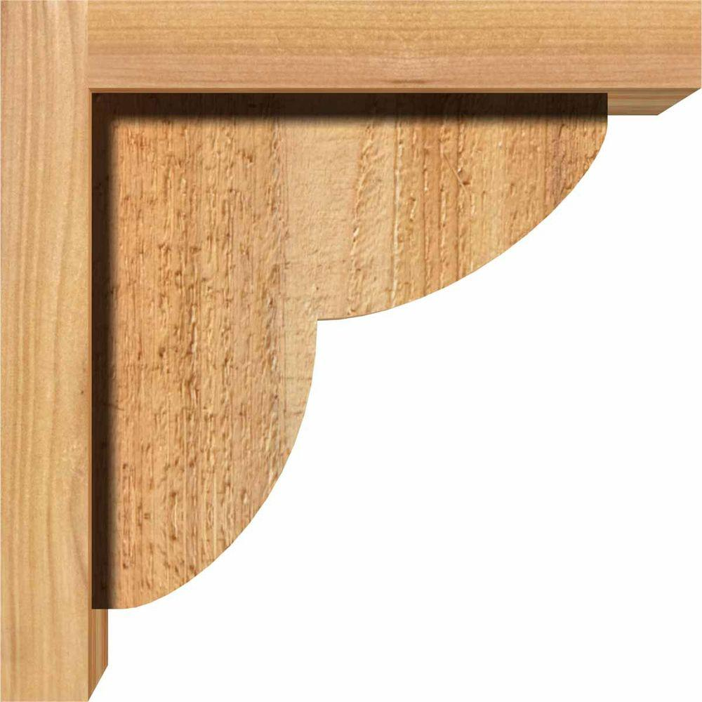 Ekena Millwork 7-1/2 in. x 10 in. x 14 in. Western Red Cedar Del Monte Smooth Corbel with Backplate