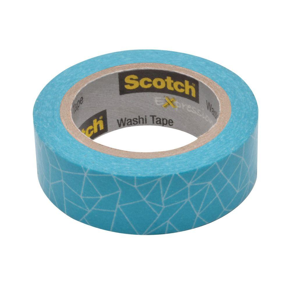 3M Scotch 0.59 in. x 10.9 yds. Cracked Expressions Washi Tape (Case of 36)