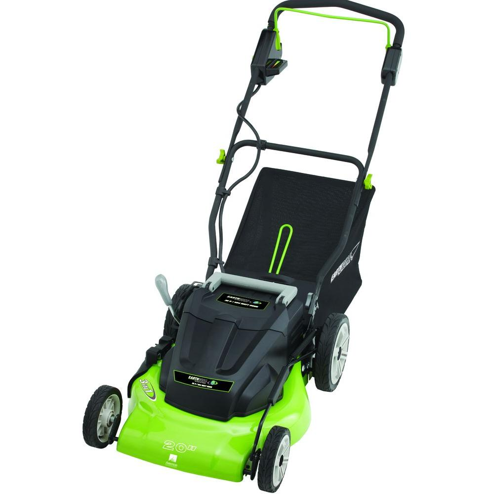 Earthwise 20 in. Rechargeable Cordless Electric Lawn Mower