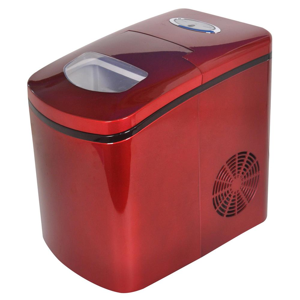 26 lb. Freestanding Ice Maker in Red