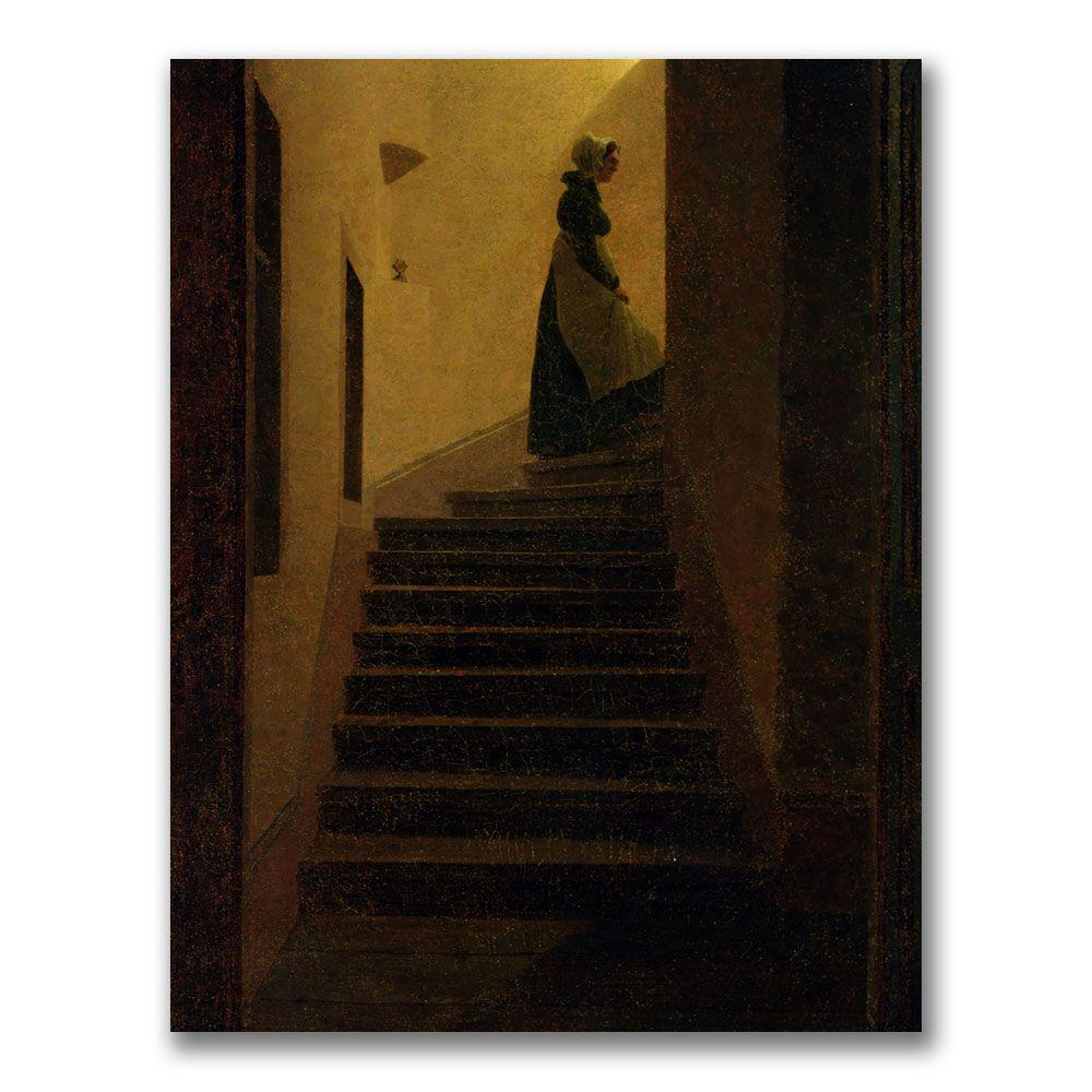 24 in. x 32 in. Caroline on the Stairs Canvas Art