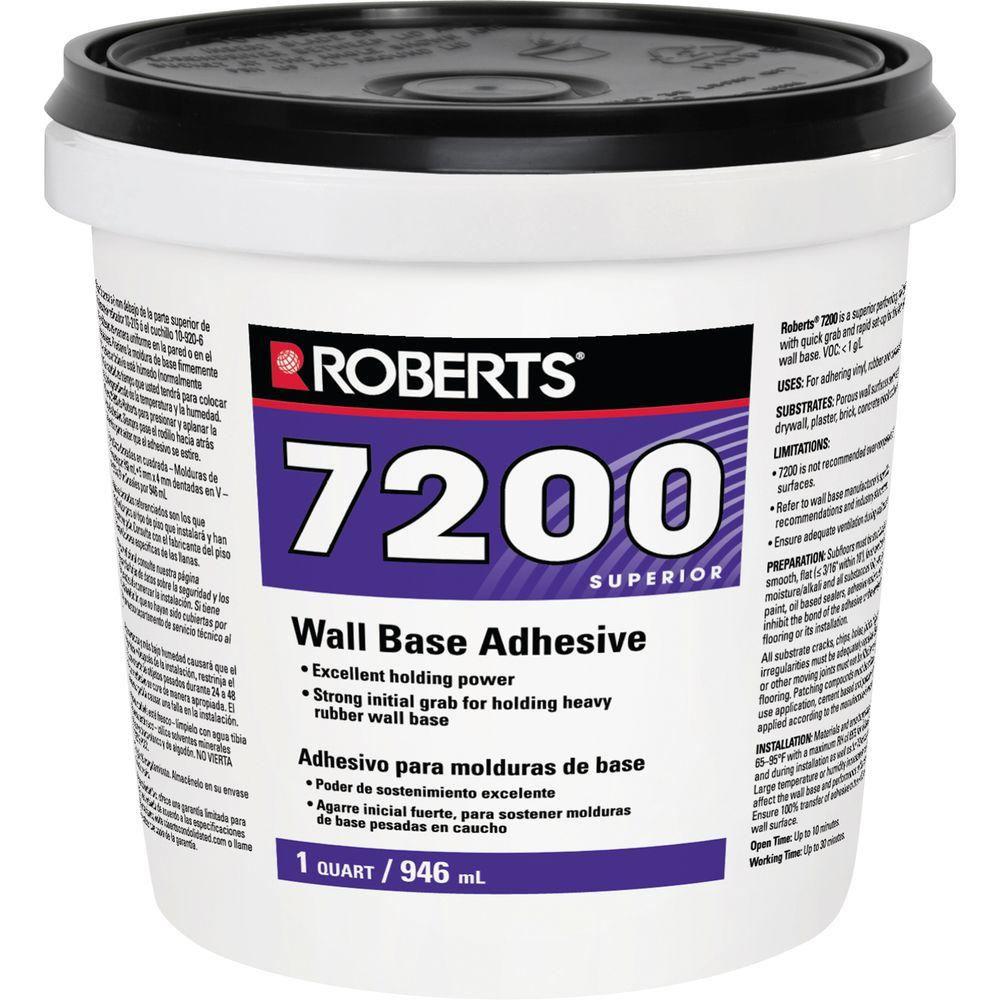 Roberts 1 Qt. Pail of Wall and Cove Base Adhesive-7200-0 -