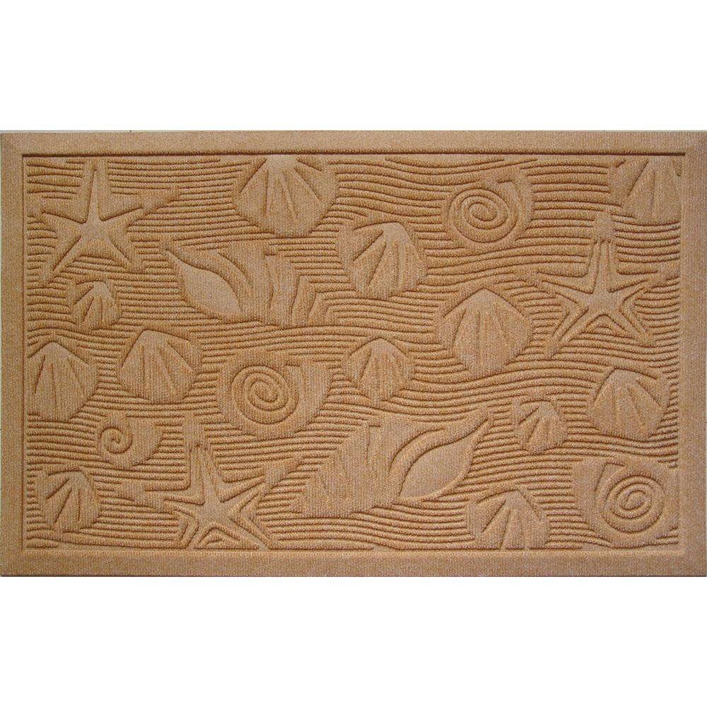Entryways Seashells 22 in. x 35 in. Weather Beater Door Mat