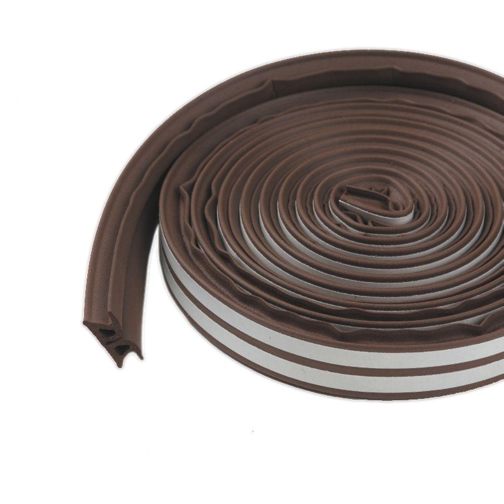 3/8 in. x 17 ft. Brown Silicone/Rubber Lifetime Weatherstrip for Extra