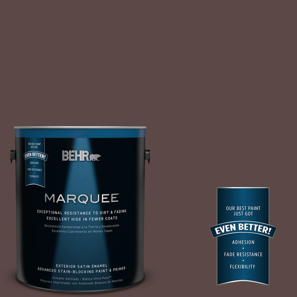 BEHR MARQUEE 1-gal. #MQ1-58 Chocolate Soul Satin Enamel Exterior Paint