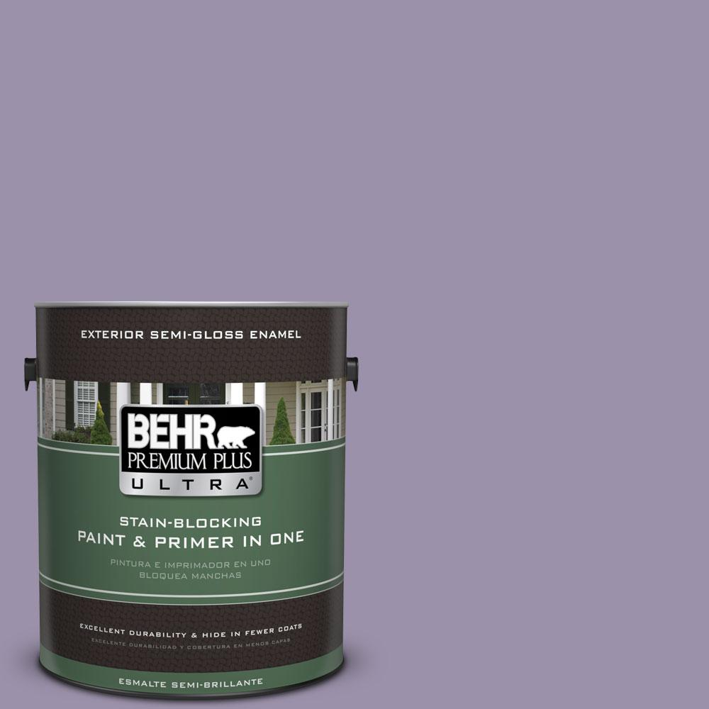 BEHR Premium Plus Ultra 1-gal. #650F-4 Delectable Semi-Gloss Enamel Exterior Paint
