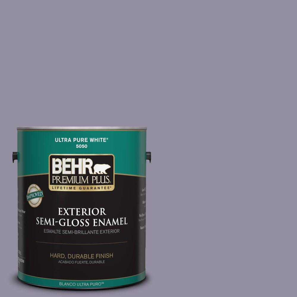 BEHR Premium Plus 1-gal. #N560-4 Evening in Paris Semi-Gloss Enamel Exterior