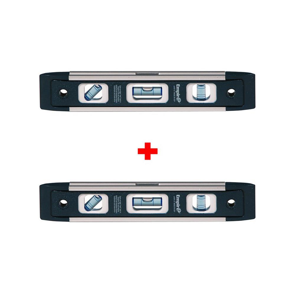 Empire True Blue 9 in. Professional Torpedo Level with Free True Blue 9 in. Professional Torpedo Level