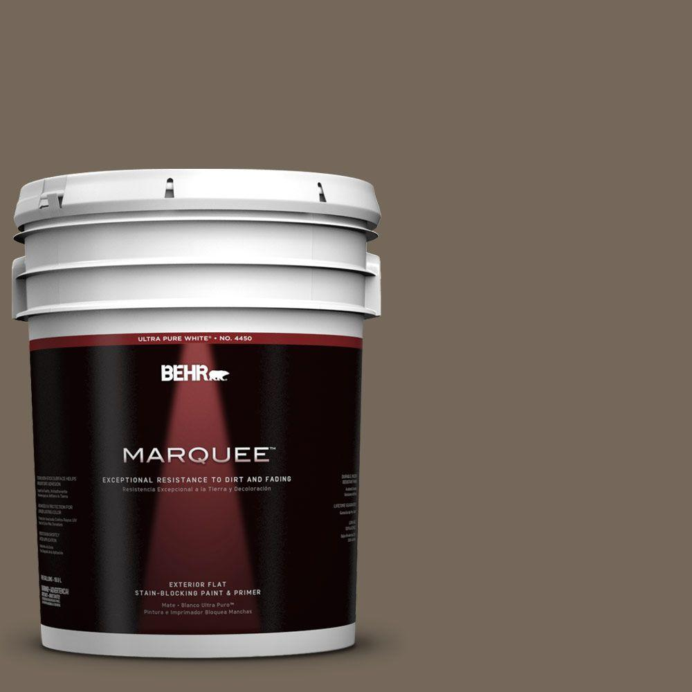 5-gal. #720D-6 Toasted Walnut Flat Exterior Paint