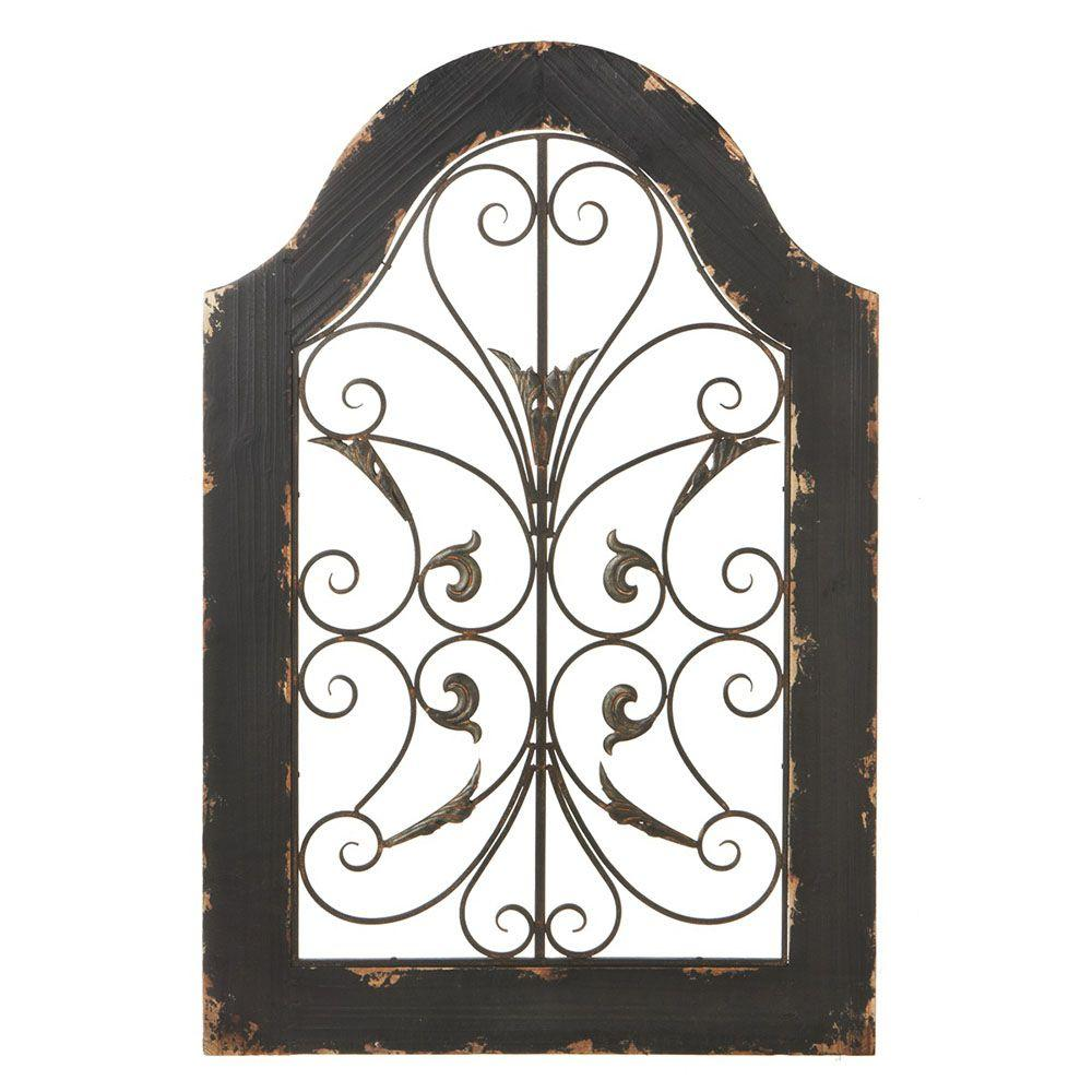 Filament Design Sundry 36 in. x 24 in. Distressed Arch Traditional Wall Art