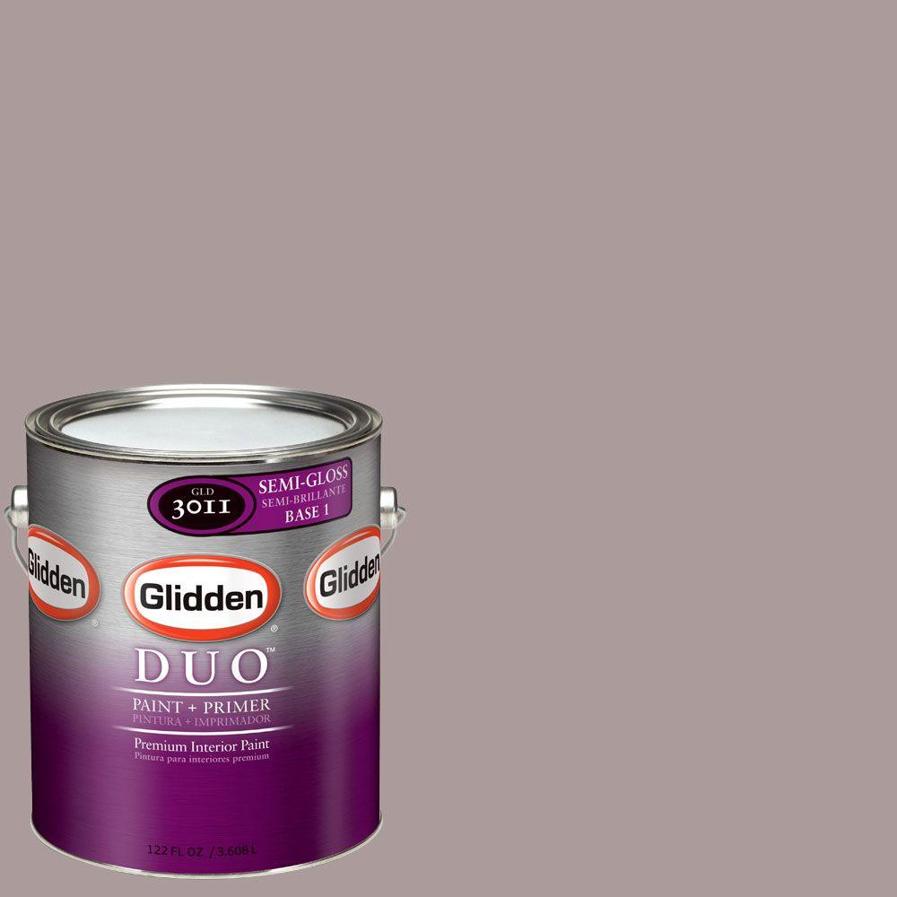 Glidden DUO 1-gal. #GLN07 Smoky Mauve Semi-Gloss Interior Paint with Primer