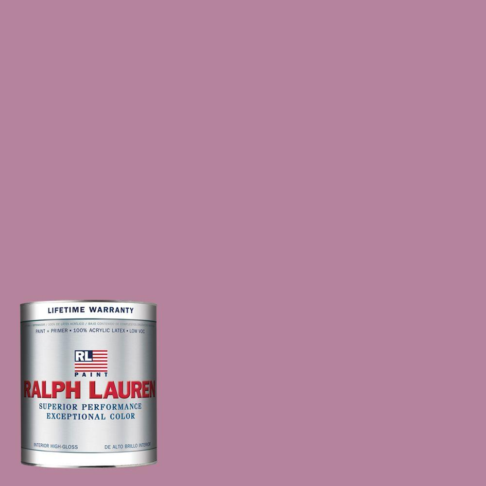 Ralph Lauren 1-qt. Wallis Pink Hi-Gloss Interior Paint-RL2109-04H - The Home