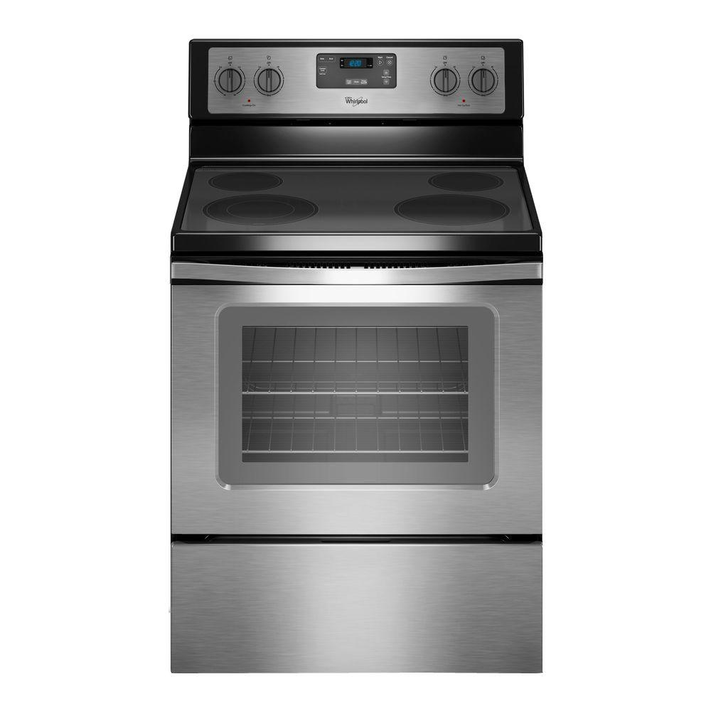 30 in. 4.8 cu. ft. Electric Range in Stainless Steel