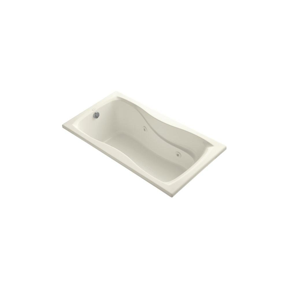 Hourglass 5 ft. Whirlpool Bath Tub in Almond
