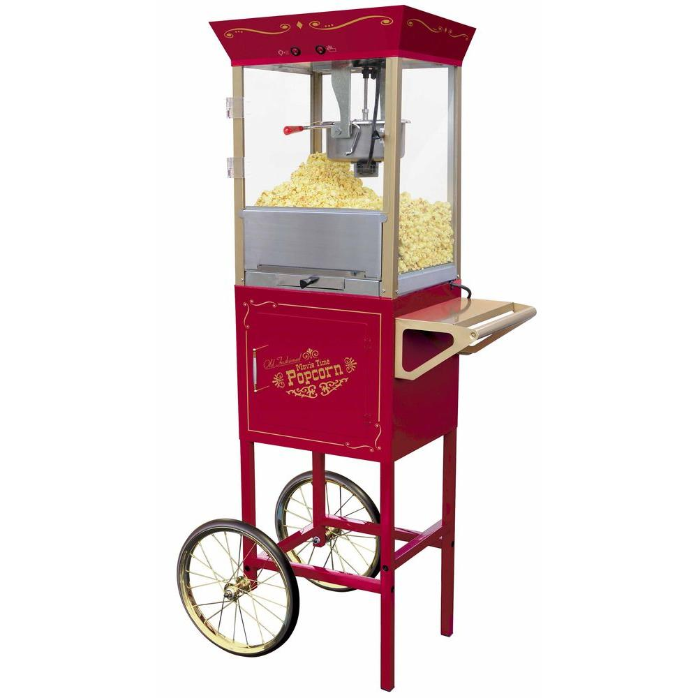 Nostalgia Electrics Vintage Collection Old Fashioned Movie Time Popcorn Cart-DISCONTINUED