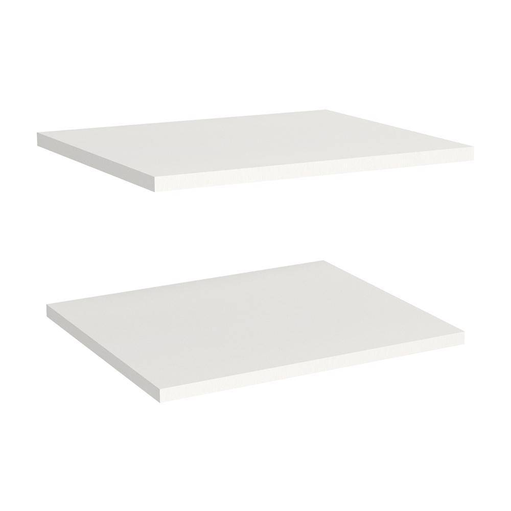 Impressions 16 in. Extra Shelves in White (2-Pack)