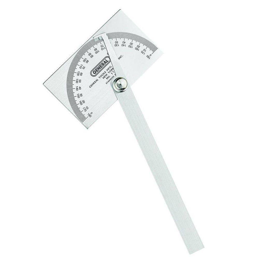 General Tools Steel Protractor-17 - The Home Depot