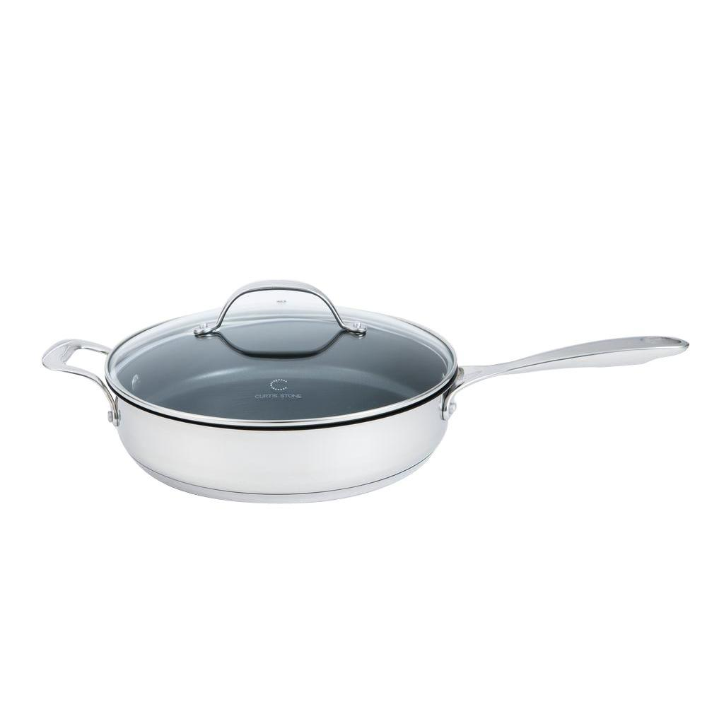 Curtis Stone Steelworks 4 qt. Nonstick Saute Pan