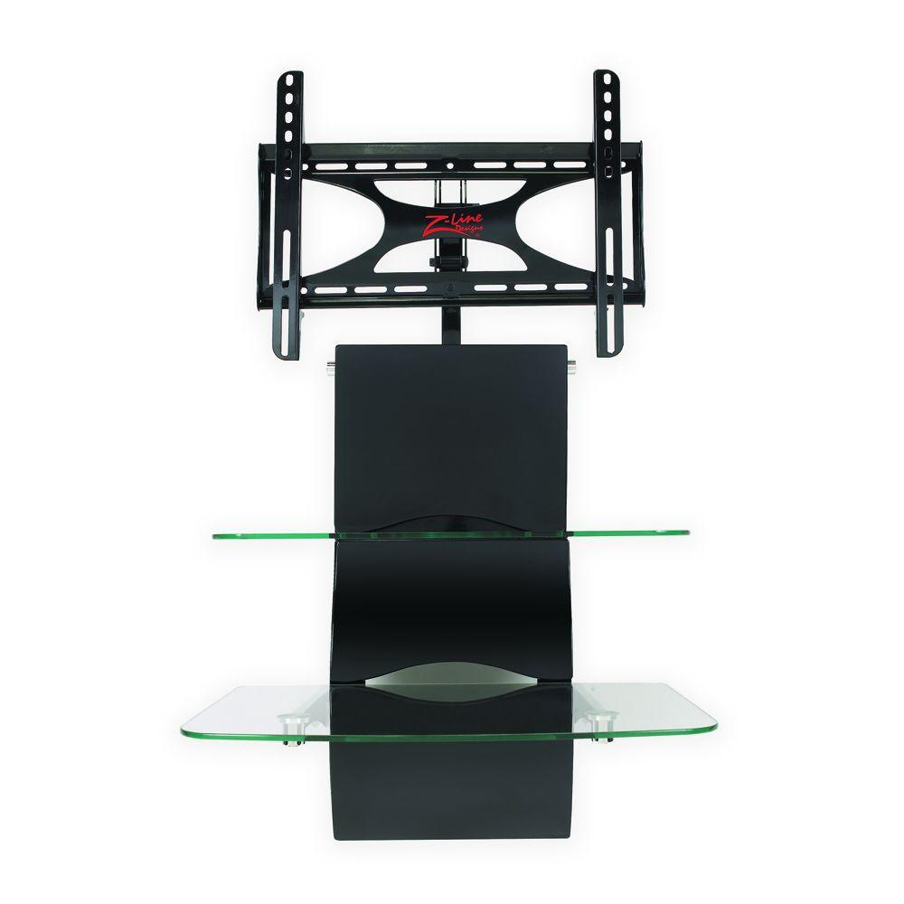 Z-Line Designs Black Wall Furniture System with Integrated Mount-DISCONTINUED