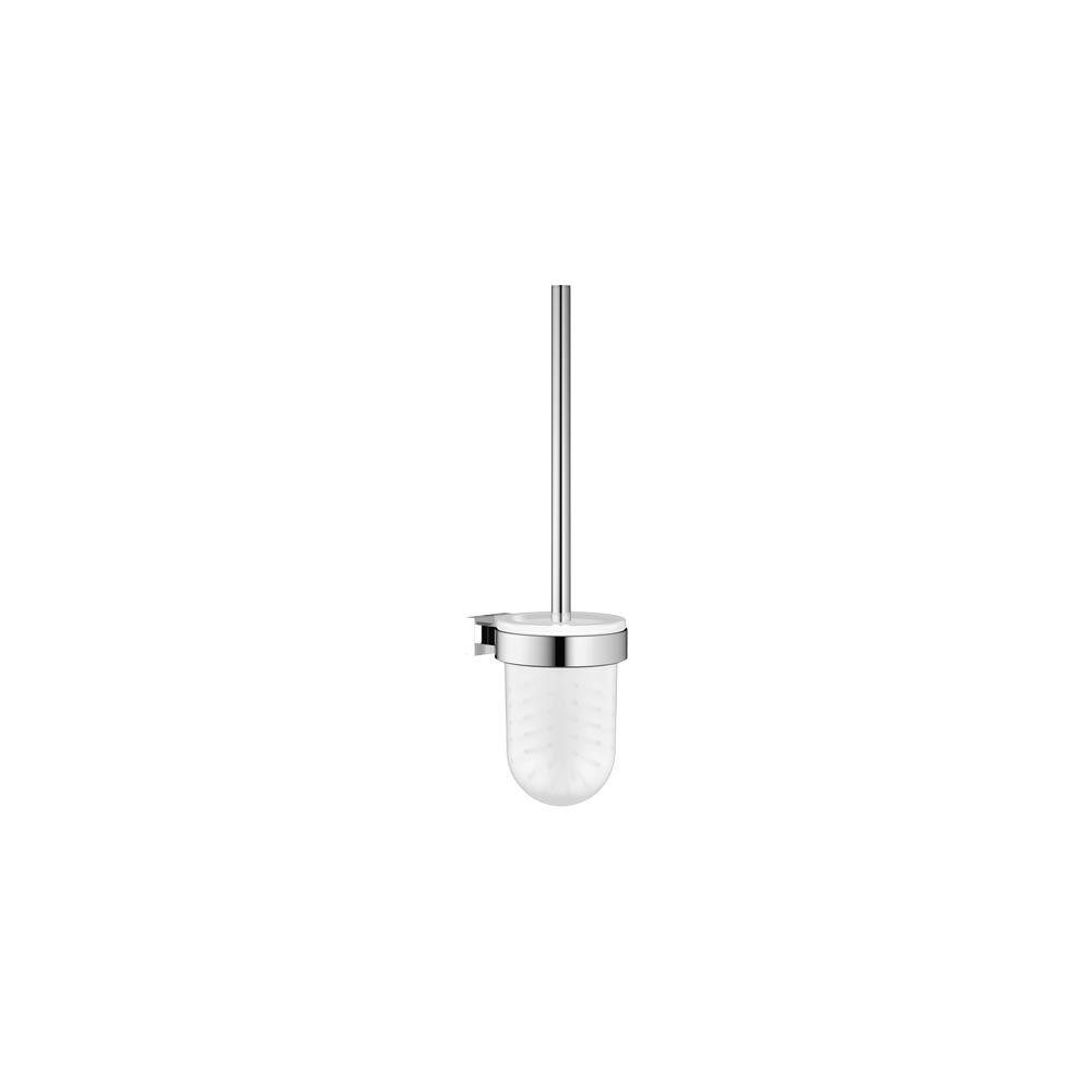 Essentials Cube Wall-Mount Toilet Brush Set in StarLight Chrome