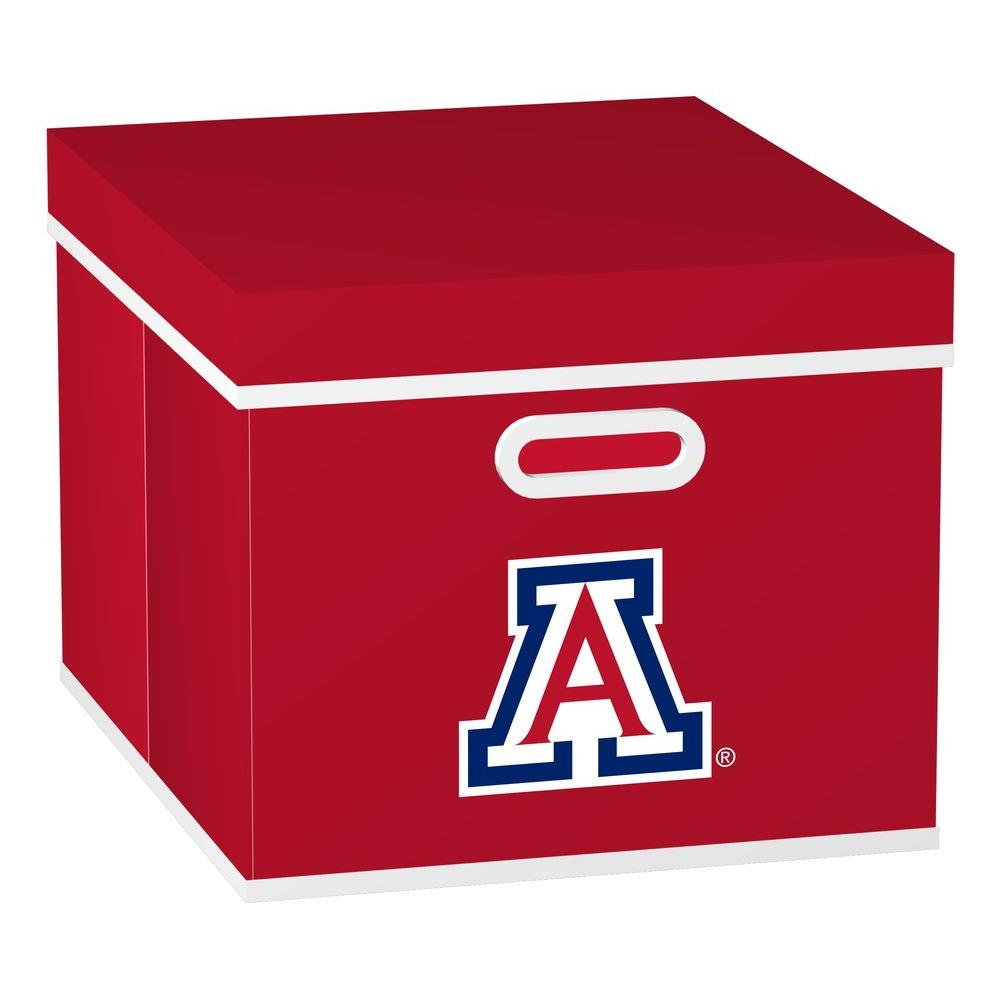MyOwnersBox University of Arizona College STACKITS 12 in. x 10-1/2 in. x 15 in. Red Fabric Storage Cube